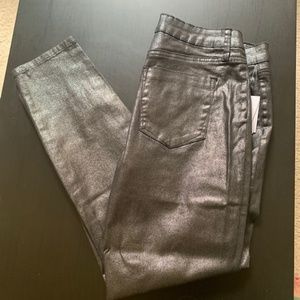 Women's Just Fab Metallic Skinny Jeans